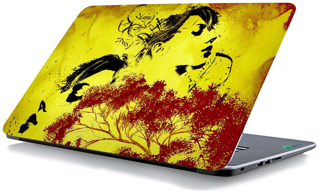 RADANYA Tree Faces Print Laptop Skin Vinyl Laptop Decal 15.6