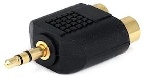 RCA Connectior To 3.5mm Gold Plated Adapter