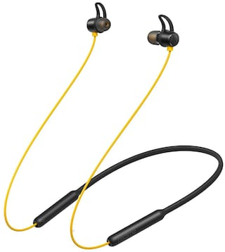 RealMe Buds with Mic In-Ear Bluetooth Headset ( Black & Yellow )