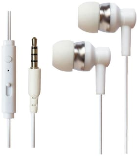 Redmi Note4 / Redmi 4 Compitable In Ear Wired Headphone Earphones With Mic - White