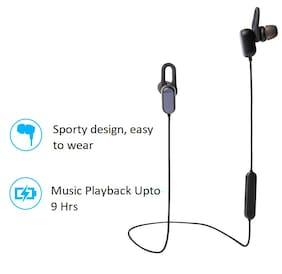 Rednix  Sports Bluetooth Earphones Basic Dynamic bass, Splash and Sweat Proof, up to 9 hrs Battery