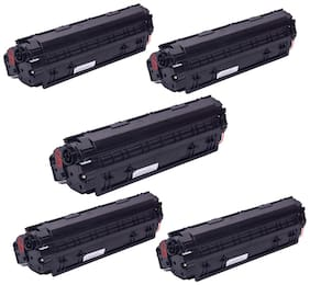 Ree-Tech 88 A 5 Toner Cartridge Compatible for HP 1007/1108/1136 - Pack of 5