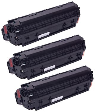 Ree-Tech 88 A 3 Toner Cartridge Compatible for HP 1007/1108/1136 - Pack of 3