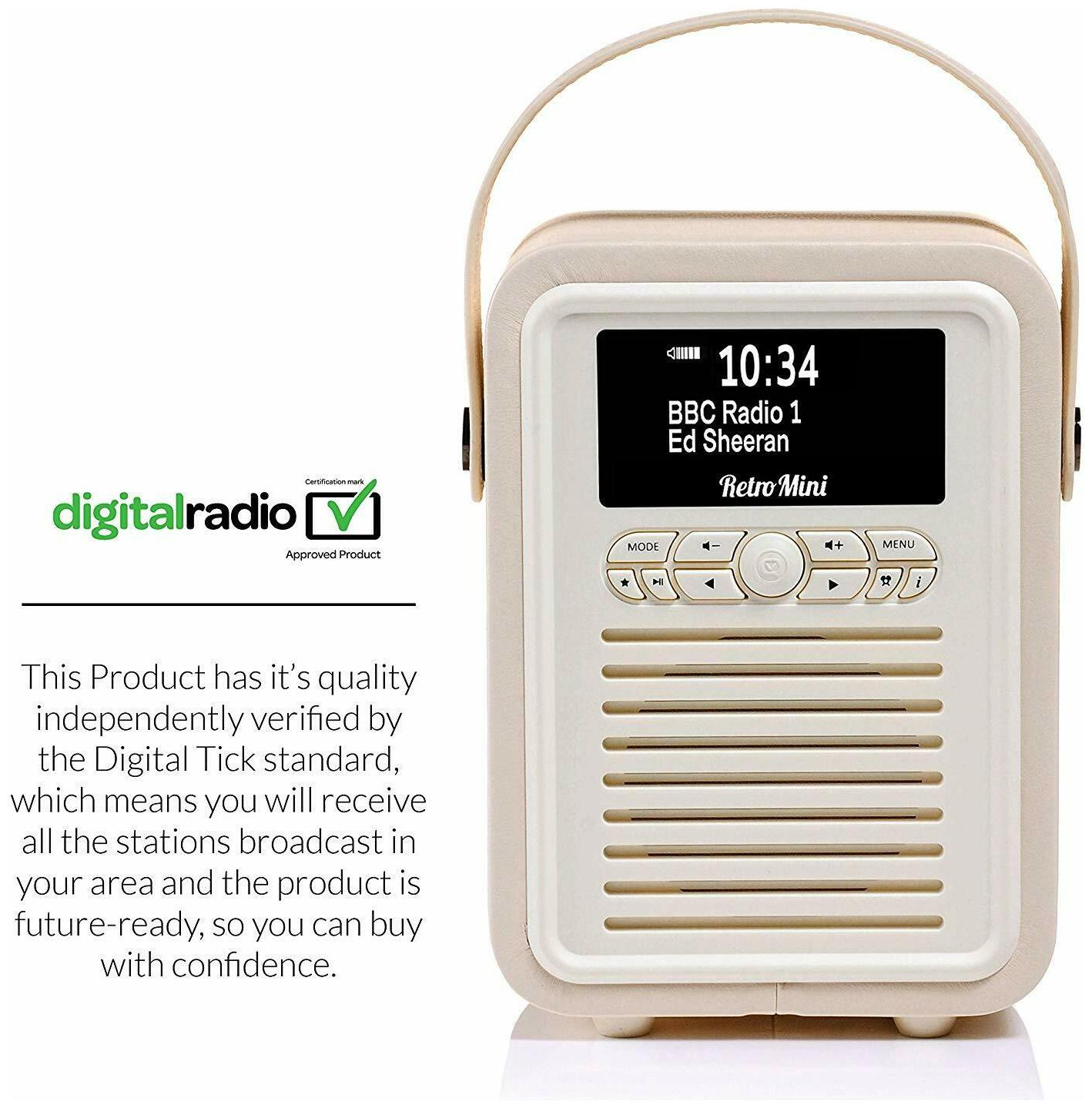 Retro Mini by VQRadio Bluetooth Speaker AM//FM//HD Battery with PU Leather Case