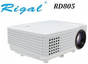 Rigal RD-805 800 lumens LED Projector with HDMI/ AV/TV/ VGA /USB White