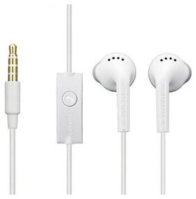 Rishtavia Earphone for Samsung Earphone YS and All Smartphone with Mic 3.5 mm Jack ( White )