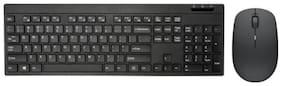 RMENDOUS Ultra slim Wireless Keyboard & Mouse Set ( Black )