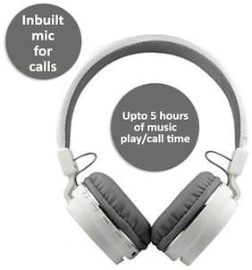 Rockpapa SH-12 On-Ear Bluetooth Headset ( White )