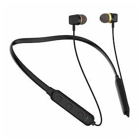 S4 Lightweight Ergonomic Neckband True Wireless Bluetooth Headset ( Black )