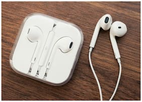 Sandilor High Quality In Ear Earphone for Apple and Android phone with Mic (White)