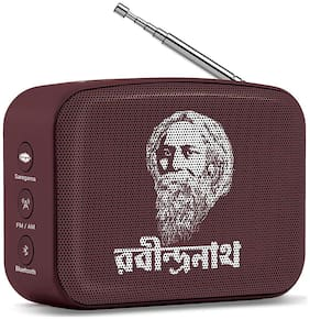 Saregama CARVAAN MINI RABINDRASANGEET / COLOR - BROWN Carvaan mini rabindrasangeet Bluetooth Portable speaker ( Grown )
