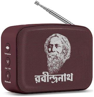 Saregama CARVAAN MINI RABINDRASANGEET / COLOR - BROWN Carvaan mini rabindrasangeet Bluetooth Portable speaker ( Grown )