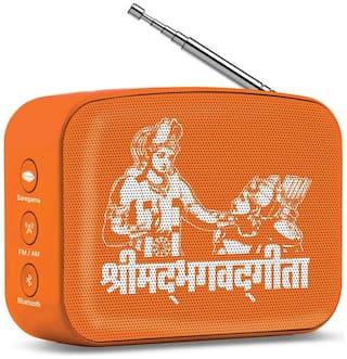 Saregama CARVAAN MINI SHRIMAD BHAGAVAD GITA Bluetooth Portable speaker ( Orange )
