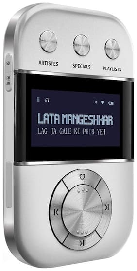 Saregama CARVAAN GO - 3000 PRE-LOADED RETRO HINDI SONGS Carvaan go - 3000 pre-loaded retro hindi songs Bluetooth Portable speaker ( Silver )