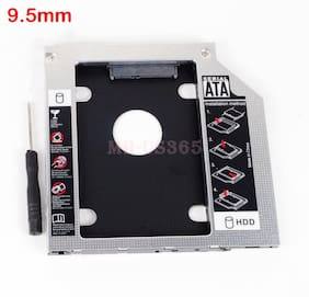 SATA 2nd HDD Hard Drive Disk Caddy Adapter Bay for Toshiba R830 9.5mm Universal