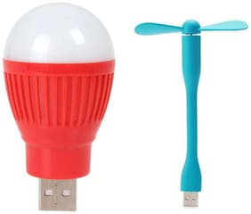Selfieseven USB Bulb With USB Fan (Assorted)