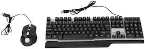 Shopizone Kb-bl-1837 Wired Keyboard & Mouse Set ( Black )