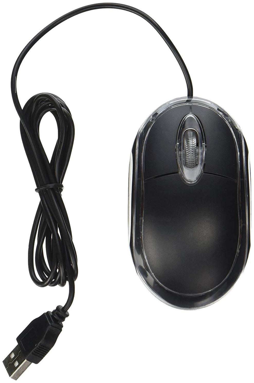 Shopline A1 Wired USB Optical Mouse  Black