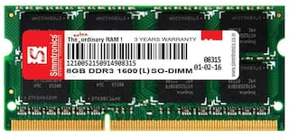 Simmtronics 8 gb Ddr3 RAM for Laptop