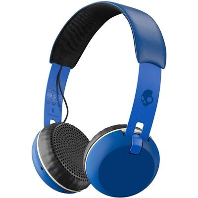 Skullcandy Grind Bluetooth Wireless S5GBW-J546 On-Ear Headphones with Built-In Mic and Remote Royal Blue