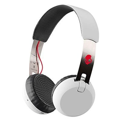 Skullcandy Grind Bluetooth Wireless S5GBW-J472 On-Ear Headphones with Built-In Mic and Remote White