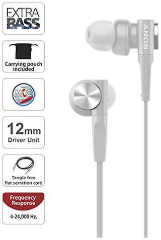 Sony XB55AP In-Ear Wired Headphone ( White )