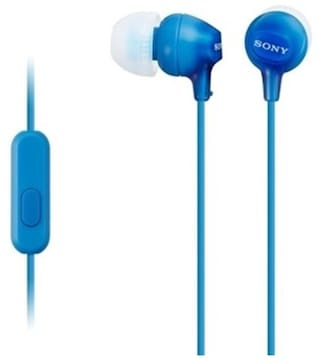 Sony MDR-EX15AP In-Ear Wired Headphone ( Blue )