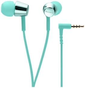 Sony MDR-EX155 In-Ear Wired Headphones (Light Blue)