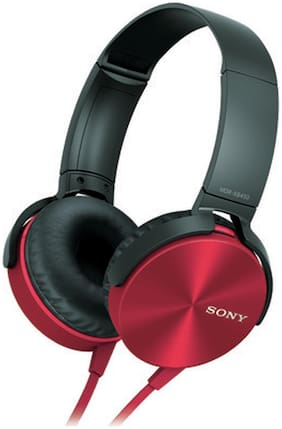 Sony MDR-XB450 On-Ear Wired Headphone ( Red )