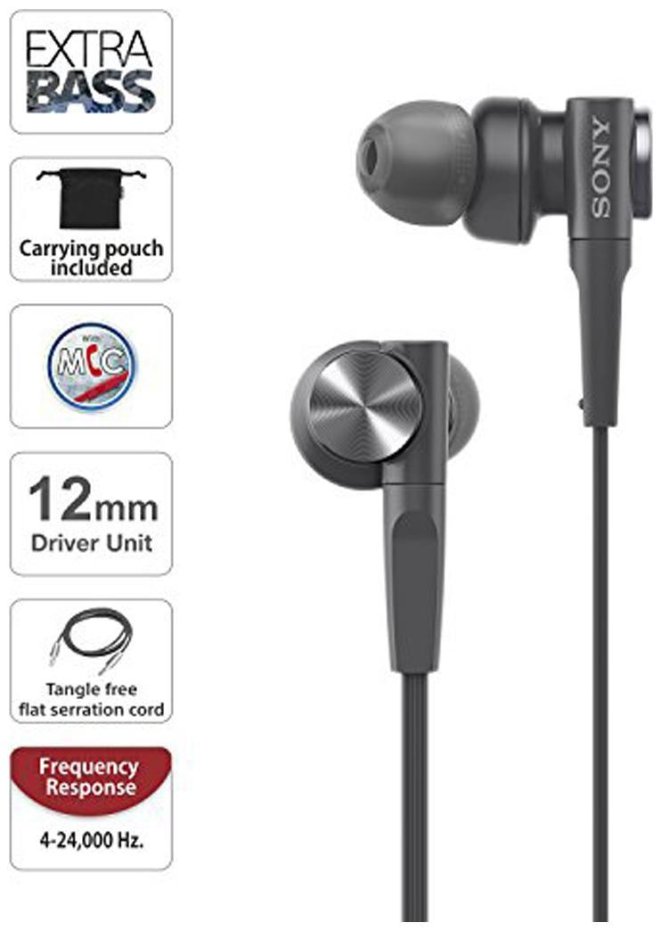 Sony In Ear Wired Headphone   Black