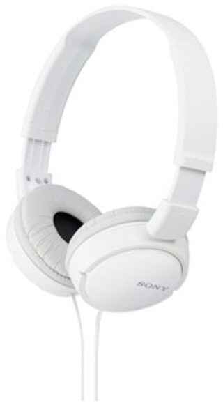 Sony MDR-ZX110A Wired On Ear Headset (White)