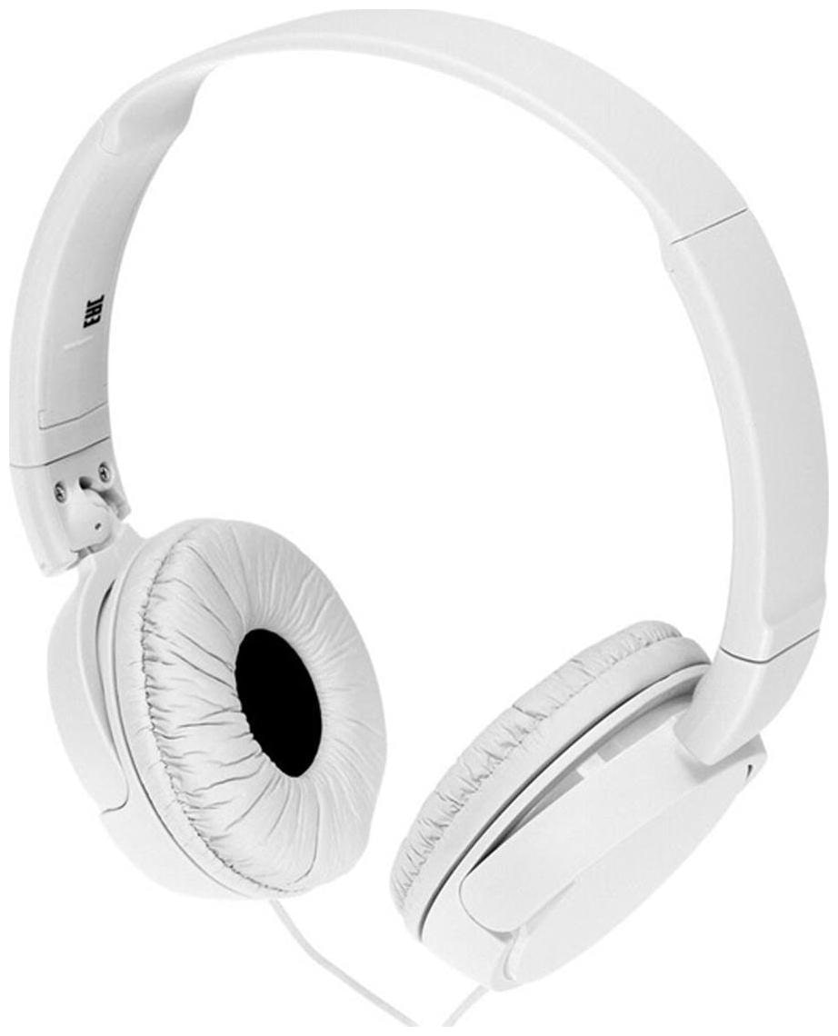 Sony MDR ZX110/W On Ear Wired Headphone   White   by Infitech