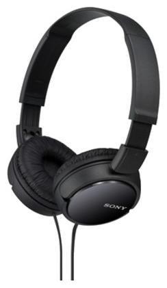 Sony MDR ZX110 On Ear Wired Headphone   Black