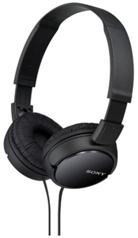 Sony MDR-ZX110 Wired On Ear Headphone (Black)