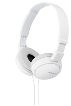 Sony MDR-ZX110AP Wired On Ear Headset (White)
