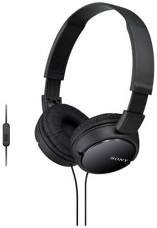 Sony MDR-ZX110AP On-Ear Wired Headphone ( Black )