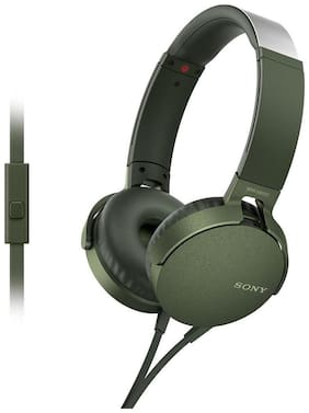 Sony Mdr-xb550ap On-ear Wired Headphone ( Green )