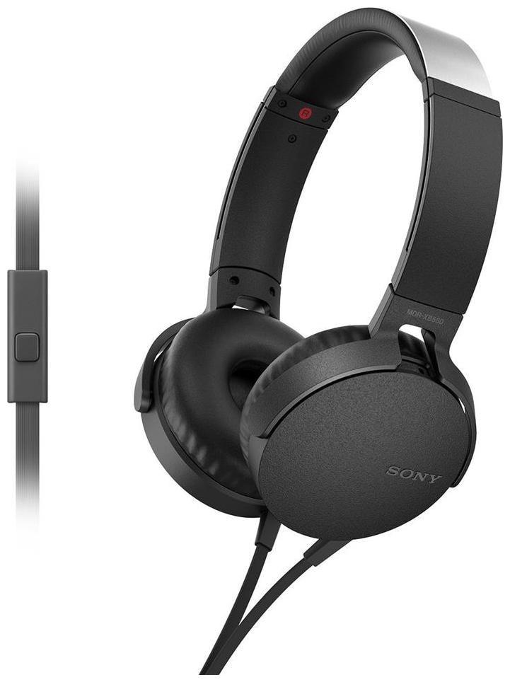 Sony MDR XB550AP On Ear Wired Headphone   Black   by True Accessories