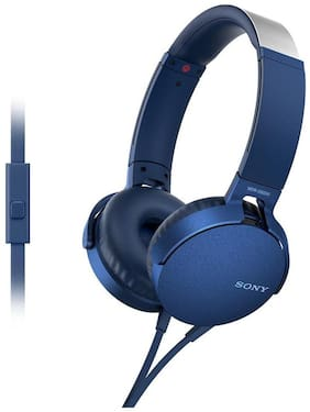 Sony MDR-XB550AP On-Ear Wired Headphone ( Blue )