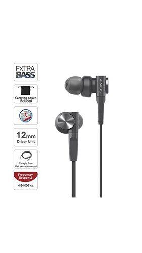 Sony XB55AP EXTRA BASS  In-Ear Headphones (Black)