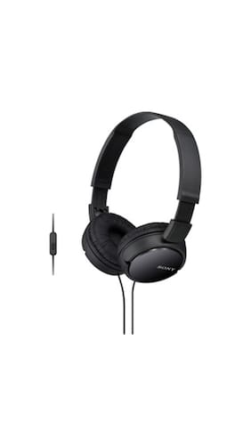 Sony ZX110-AP Wired Headset(Black)