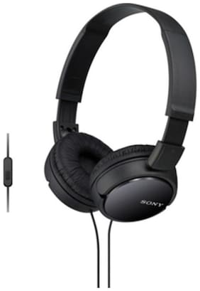 Sony MDR-ZX110AP On-Ear Wired Headphone ( Black )