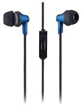 Sound One 616 In Ear Earphones with MIC , 3.5 mm Jack ,Extra Bass with Carry Case & Pouch Compatible with All Android ,IOS Smartphone/Cellphones/Mobiles (Blue)
