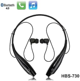 Speeqo Hbs-730 In-ear Wired Headphone ( Black )