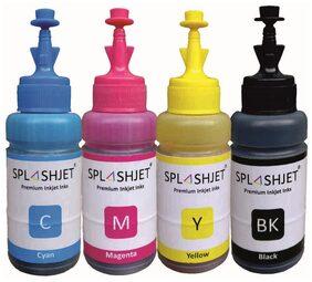 Splashjet Refill Ink for Canon G1000 / G2000 / G2002 / G2010 / G2012 / G3000 / G3010 / G4010 Printer (C/M/Y-Dye and Bk-Pigment)