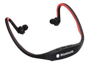 Sport Wireless Bluetooth Stereo Headphone Headset Earphone((Red))