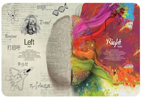 Sticker Studio brain quotes Laptop Skin & Sticker (PVC Vinyl Size- 38.1 cm (15 inch) x 25.4 cm (10 inch))