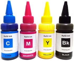 White Sky Sublimation Ink for Epson 4 Color Printers - 75ml x 4 Cyan  Magenta  Yellow  Black