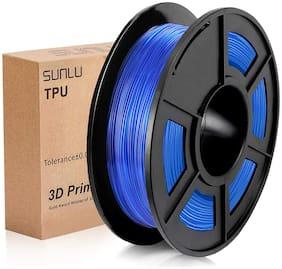 Sunlu Tpu Flexible Filament 1.75Mm For 3D Printer 500G/Spool Dimensional Accuracy +/-0.03Mm (Transparent Blue)