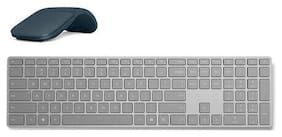 Surface Keyboard+Cobalt Blue Surface Arc Touch Mouse - Gray Surface Keyboard inc